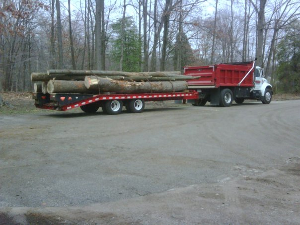 Carroll Bros. Contracting Hauling logs to the lumber mill - Crofton, MD
