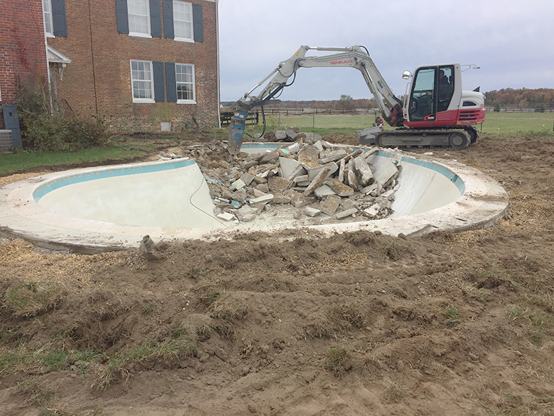 Inground Pool Removal In Centerville Md Carroll Bros Contracting