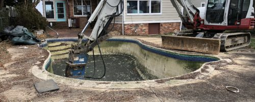 Making a Splash in the Pool Removal Business