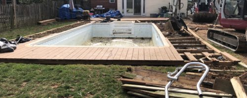 Vinyl Pool Removal in Pikesville