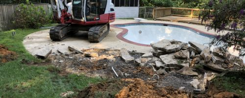 Inground Concrete Pool Removal in Chesapeake Beach Maryland