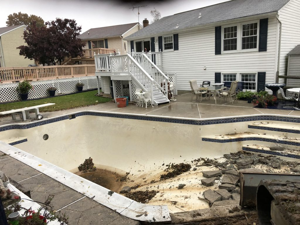 Inground Pool Removal in Parkville, Maryland - Carroll Bros